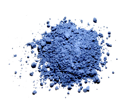 Natural ultramarine pigment made from ground lapis lazuli. This was the most expensive blue pigment during the Renaissance, often reserved for depicting the robes of Angels or the Virgin Mary.