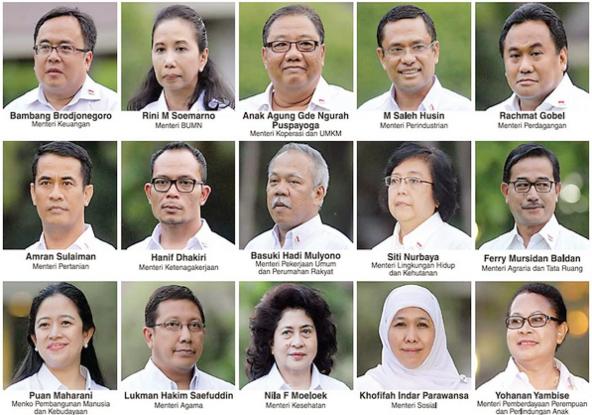34 Menteri Kabinet Kerja Jokowi
