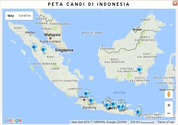 Peta Candi di Indonesia