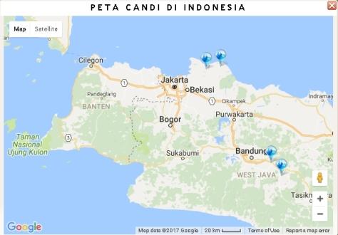 Peta Candi di Jawa Barat