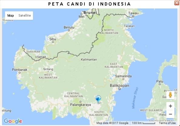 Peta Candi di Kalimantan Selatan