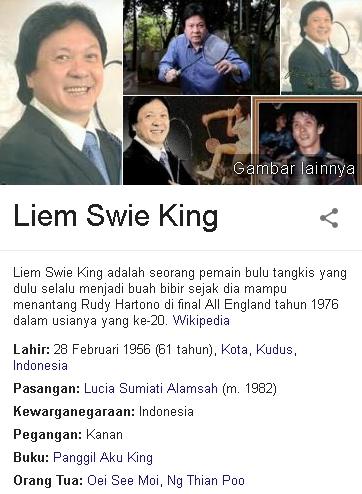 Liem Swie King Biodata
