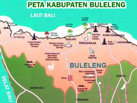 PETA PULAU BALI 005-Kabupaten Buleleng-1