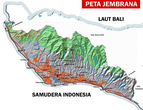 PETA PULAU BALI 007-Kabupaten Jembrana-2