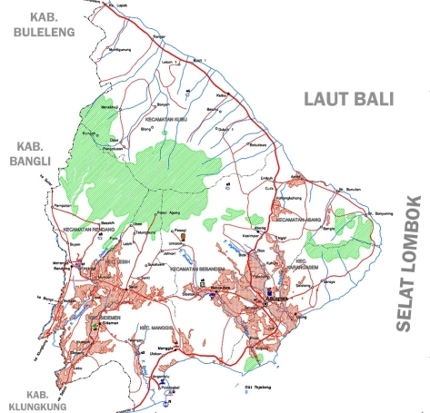 PETA PULAU BALI 008-Kabupaten Karangasem-2