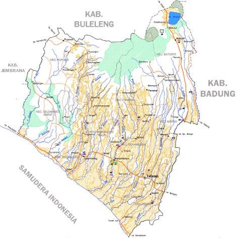 PETA PULAU BALI 010-Kabupaten Tabanan-1