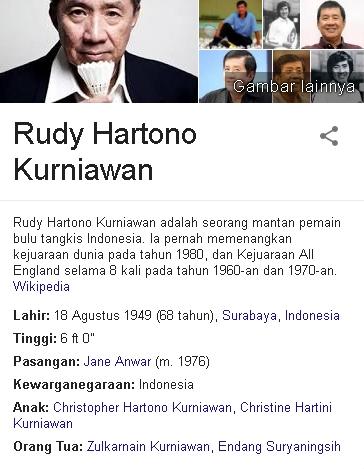 Rudy Hartono Kurniawan Biodata