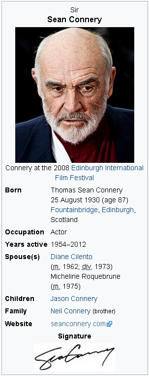 Sean Connery DATA