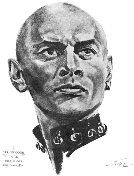 Yul_Brynner_1956_drawing