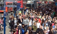 Saturday Shoppers - busy Oxford Circus