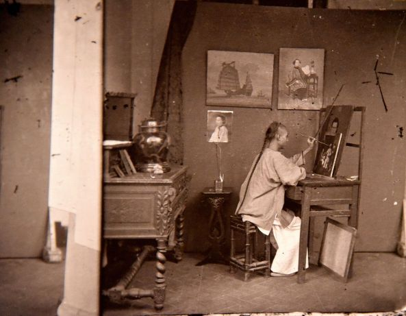 A_painter_at_work._John_Thomson._Honk_Kong,_1871._The_Wellcome_Collection,_London