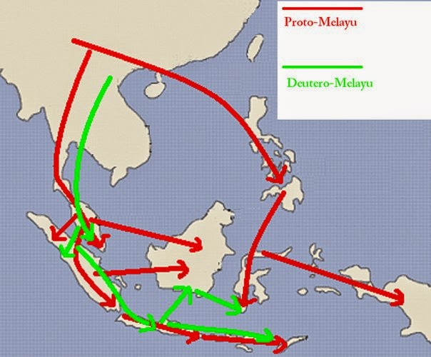 asal usul nenek moyang bangsa indonesia dan peta penyebarannya