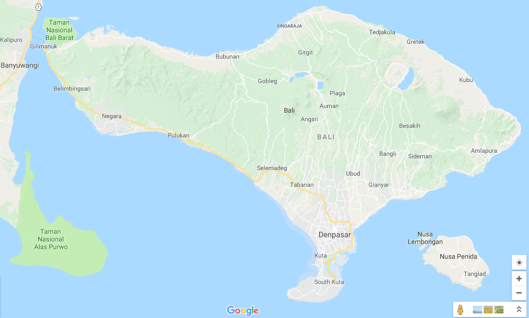 Peta Pulau Bali Lengkap Dengan Keterangannya Bali Gates Of Heaven