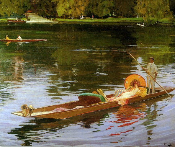 Boating_on_the_Thames_by_John_Lavery