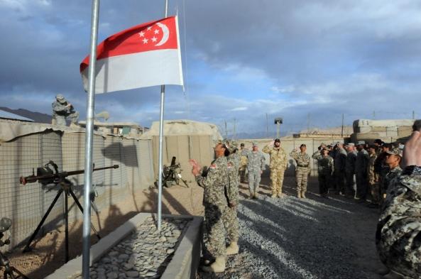 Singapore soldiers depart Kiwi Base