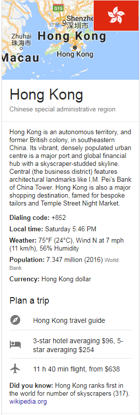 hong kong DATA