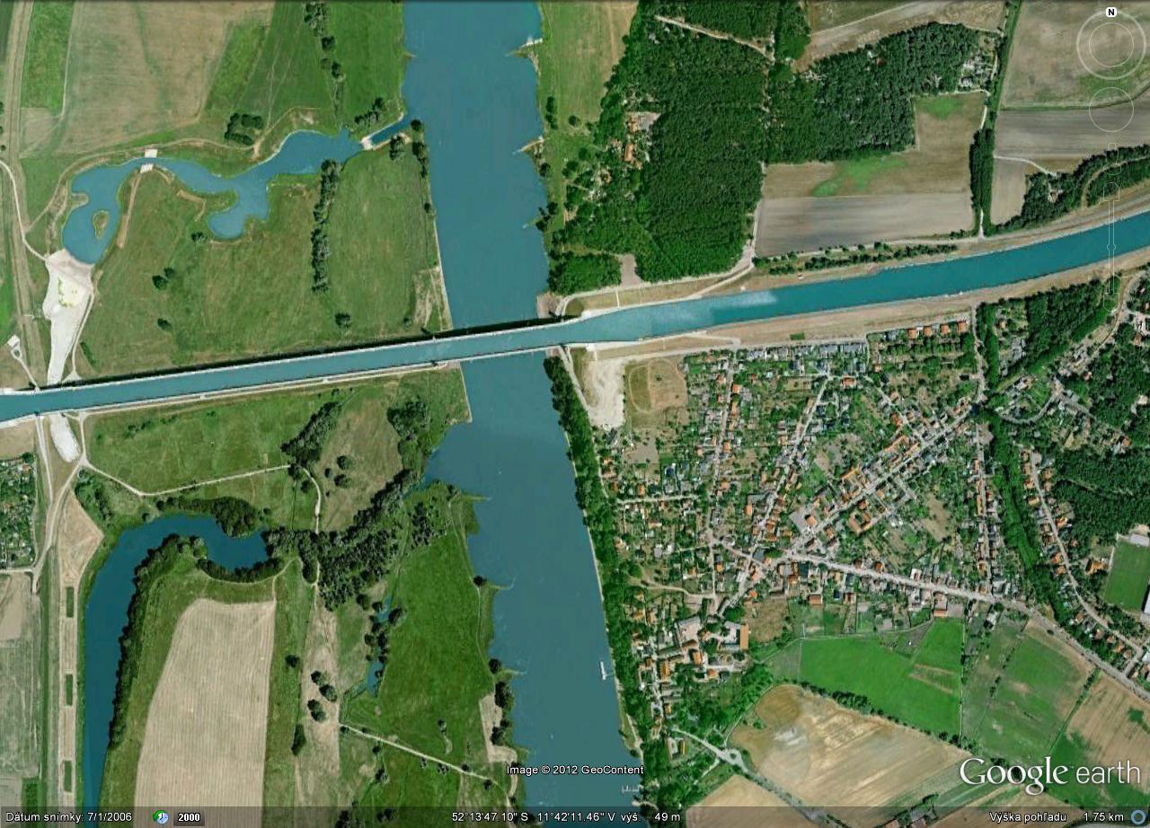 Magdeburg-Water-Bridge-Sattelite-View