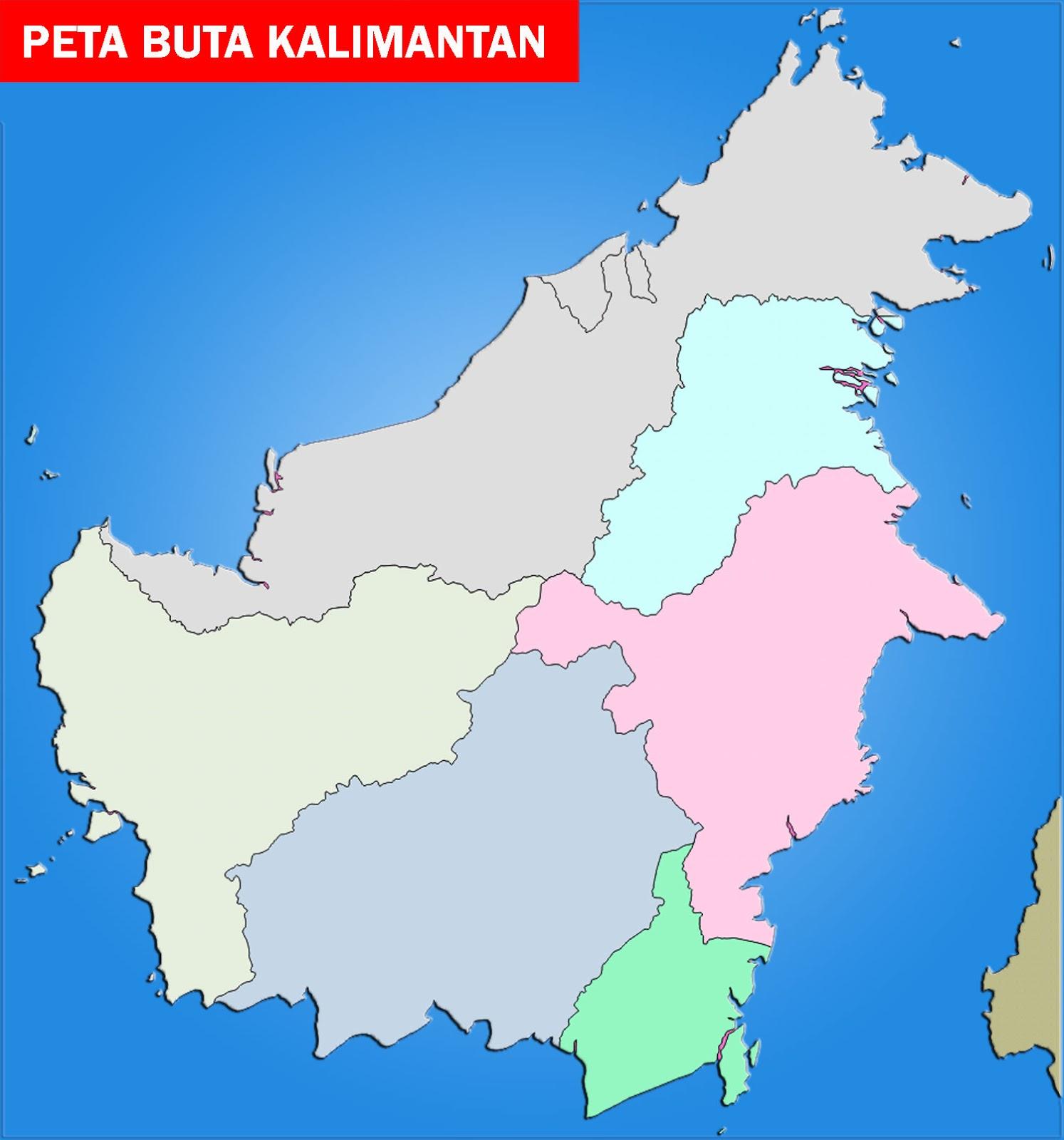 Download Gambar Sketsa Pulau Kalimantan