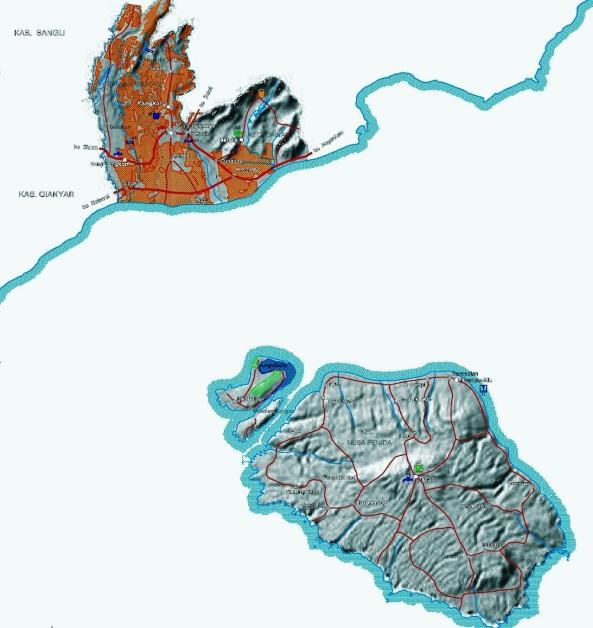 Peta-infrastruktur-Kabupaten-Klungkung