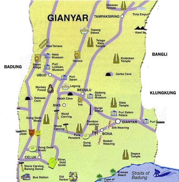 Peta-Jalan-Kabupaten-Gianyar
