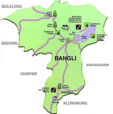 Peta-Kabupaten-Bangli-Sekilas