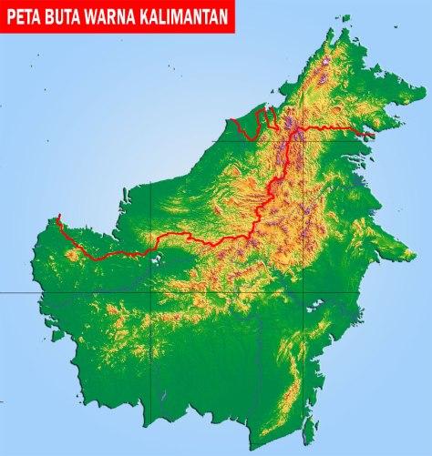 Peta-Kalimantan-Buta-Berwarna