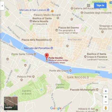 Ponte Vecchio Map