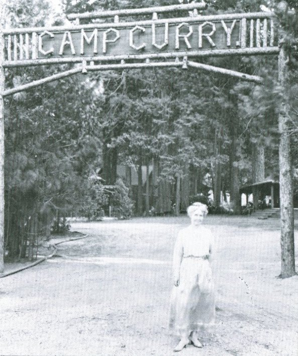 Mother_Curry_in_front_of_Camp_Curry