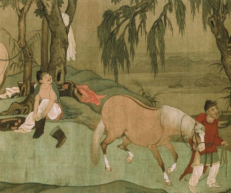 1225px-9_Zhao_Mengfu._Bathing_Horses._28.1_x_155.5_cm_Detail_of_the_scroll._Palace_Museum,_Beijing