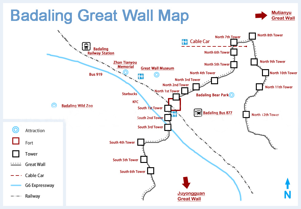 badaling-great-wall-map