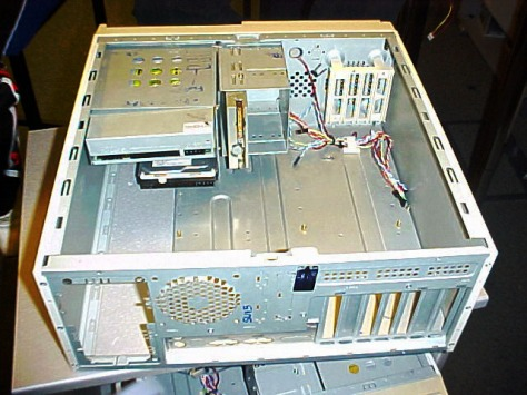 Stripped-computer-case