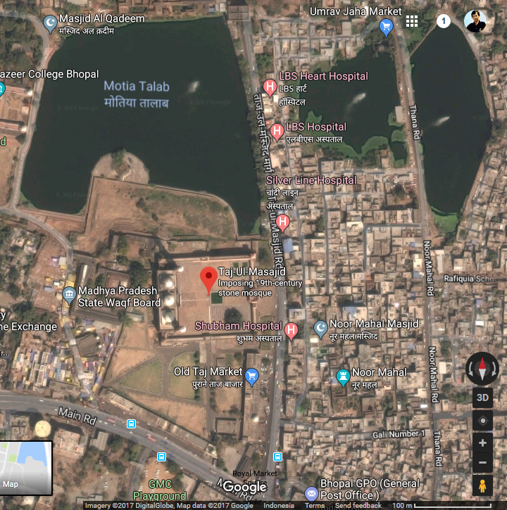 Taj ul Mosque – Bhopal, India-01