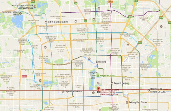 tiananmen-square-location-map