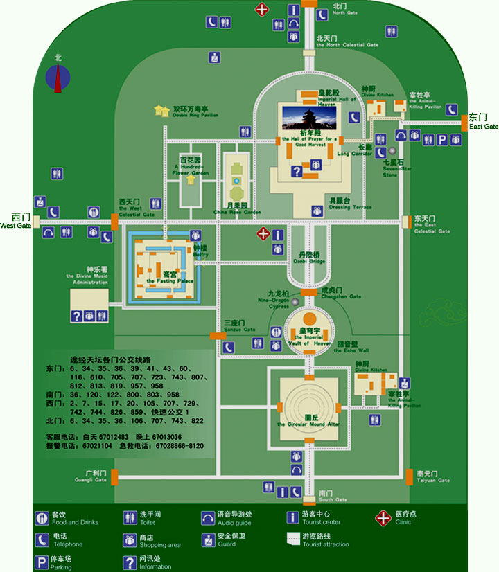 tiantan-tourist-map