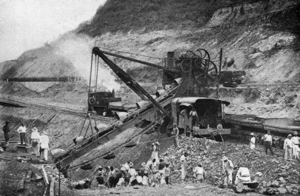 125-French_method_of_excavation_in_Culebra_Cut