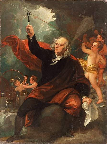 447px-Benjamin_West,_English_(born_America)_-_Benjamin_Franklin_Drawing_Electricity_from_the_Sky_-_Google_Art_Project