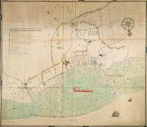 AMH-4658-NA_Map_of_the_fort_at_Samarang