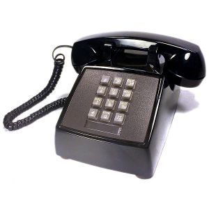 AT&T_push_button_telephone_western_electric_model_2500_dmg_black