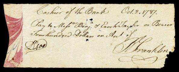 FRANKLIN,_Benjamin_(signed_check)
