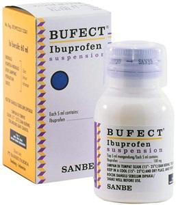 Bufect Ibuprofen Suspensi 60ml 300