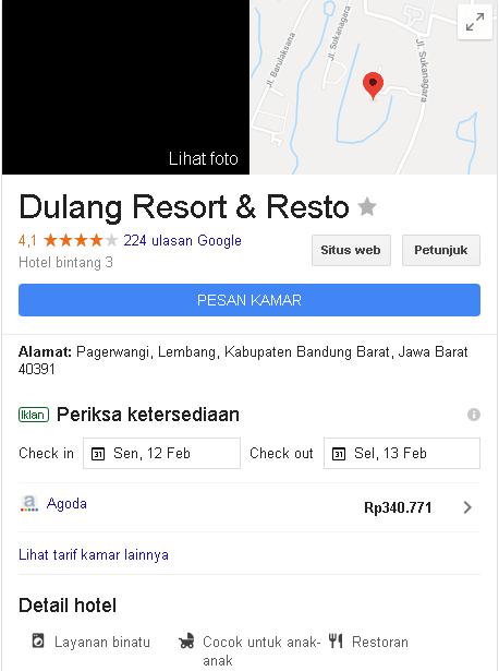 Dulang Resort di Lembang