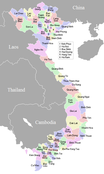 VietnameseProvincesMap