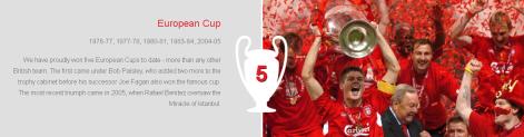 LFC Honours European Cup