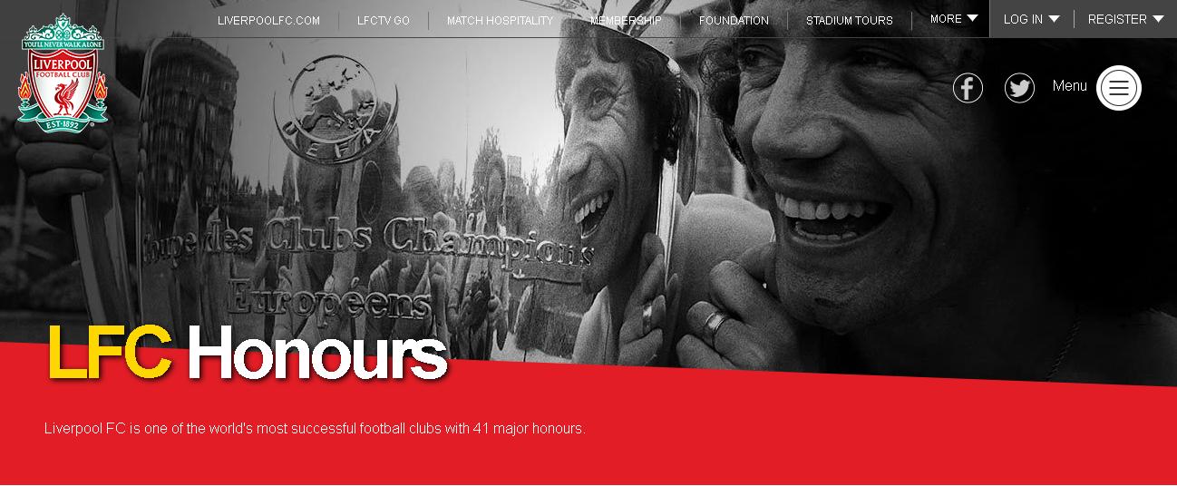 LFC Honours Header